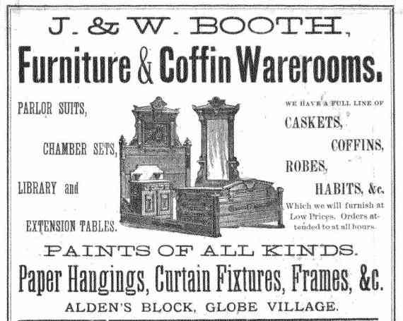 Southbridge, Massachusetts, USA - 1882 ad