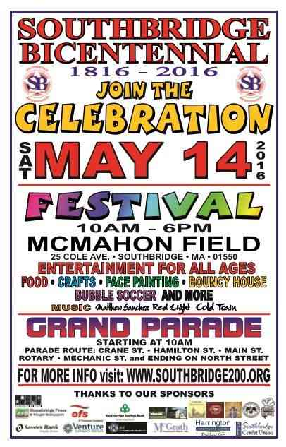 Southbridge, Massachusetts, USA - Bicentennial celebration, May 14, 2016