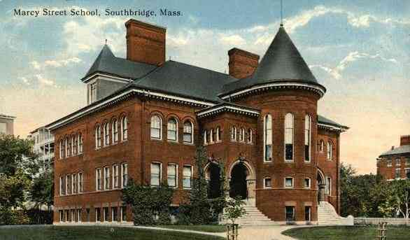 Southbridge, Worcester, Massachusetts, USA - Marcy Street School