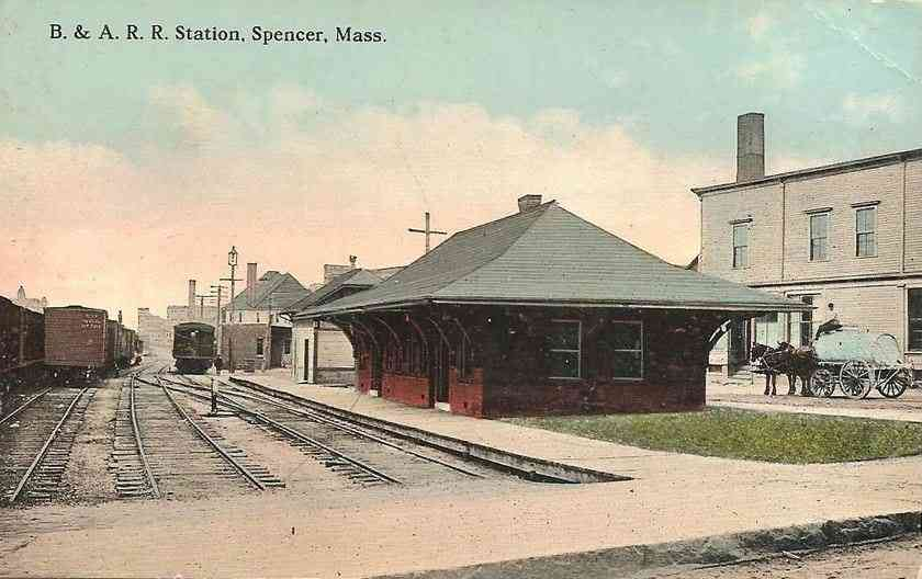 Spencer, Massachusetts, USA - B. & A. R. R. Station, Spencer, Mass.