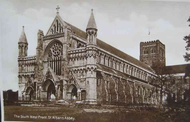 Saint Albans, Hertfordshire, England - South West Front, St Albans Abbey