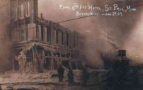 St Paul, Minnesota, USA - Ruins of Fey Hotel, St. Paul, Minn.
