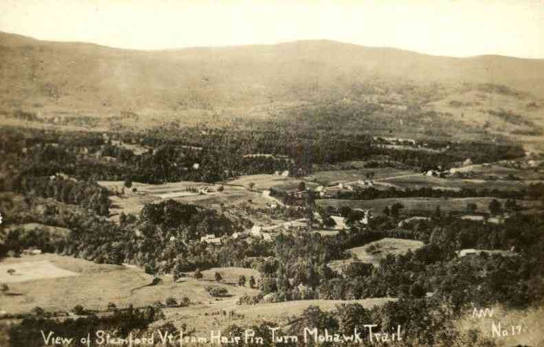 Stamford, Vermont, USA - View of Stamford, Vt. from Hair Pin Turn Mohawk Trail