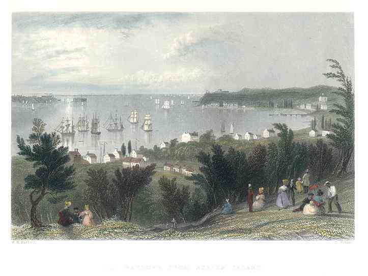 Staten Island, New York, USA - The Narrows from Staten Island