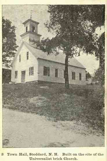 Stoddard, New Hampshire, USA - Town Hall, Stoddard, N.H. Built on the site of the Universalist brick Church.