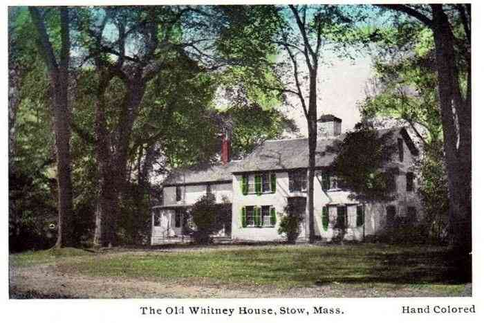 Stow, Massachusetts, USA - The Old Whitney House, Stow, Mass.