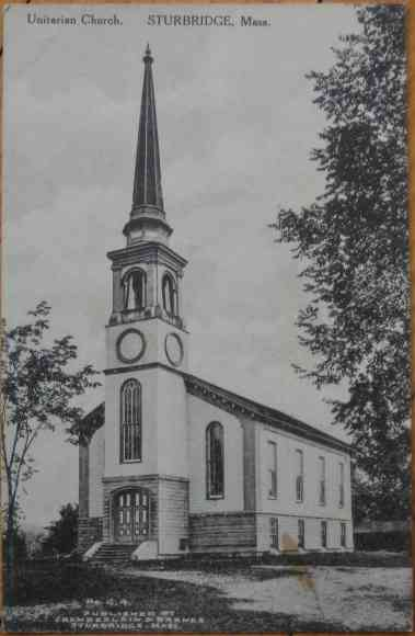 Sturbridge, Massachusetts, USA (Fiskdale) - Unitarian Church. Sturbridge, Mass.