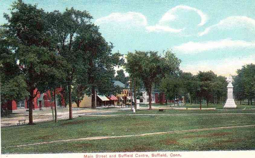 Suffield, Connecticut, USA - Main Street and Suffield Centre, Suffield, Conn. (1913)