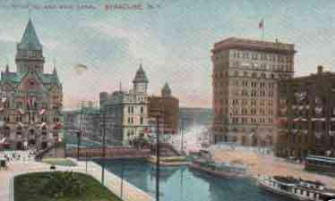 Syracuse, New York, USA - Clinton Sq. and Erie Canal, Syracuse, N.Y.