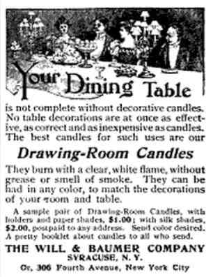 Syracuse, New York, USA - Drawing-Room Candles
