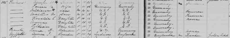Anne Theinert - 1915 RI Census - Lincoln, Providence, Rhode Island