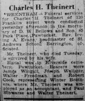 Charles Hoyt THEINERT - Pawtucket Times