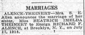 Beatrice THEINERT - The Brooklyn Daily Eagle