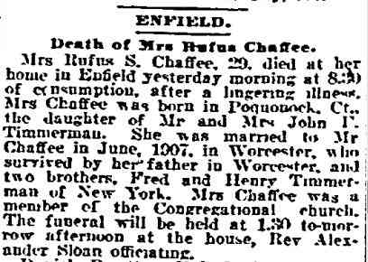 She was kicked out of her grave, which was kicked out of the cemetery... - Death of Anna Timmerman Chaffee