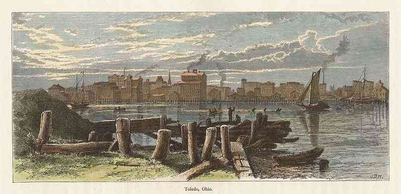 Toledo, Ohio, USA - Picturesque America... Oliver Bell Bunce, William Cullen Bryant