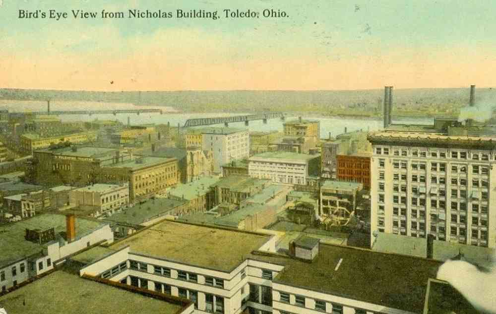 Toledo, Ohio, USA - Bird's Eye View from Nicholas Building, Toledo, Ohio.
