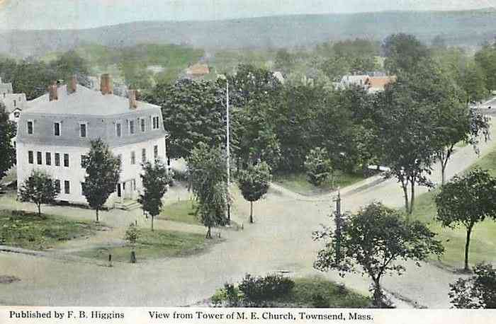 Townsend, Massachusetts, USA (Townsend Harbor) - View from Tower of M. E. Church, Townsend, Mass.