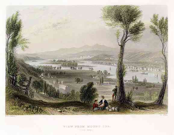 Troy, New York, USA - View from Mount Ida