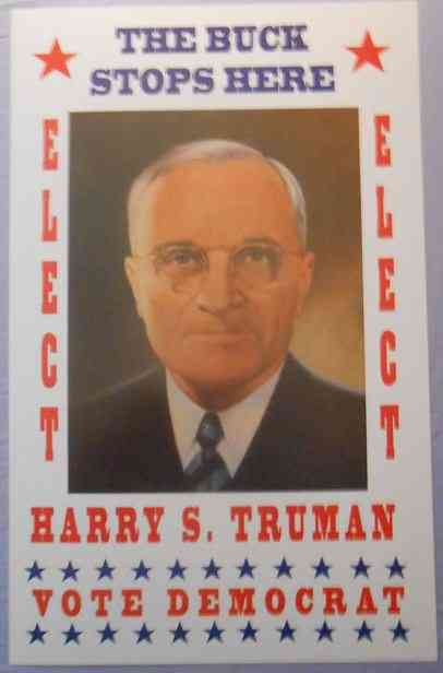 Harry S Truman - campaign poster