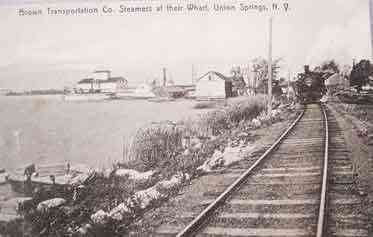Springport, New York, USA (Union Springs) - Brown Transportation Co. Steamers at their Wharf, Union Springs, N.Y.