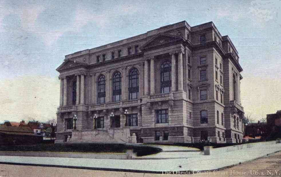 Utica, Oneida, New York, USA - The Oneida County Court House, Utica, N.Y.