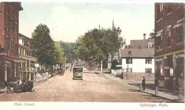Uxbridge, Massachusetts, USA  - Main Street (1907)