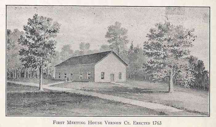 Vernon, Connecticut, USA - First Meeting House Vernon Ct. Erected 1763