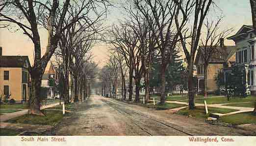 Wallingford, Connecticut, USA - South Main Street. Wallingford, Conn.