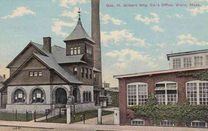 Ware, Massachusetts, USA - Geo. H. Gilbert Mfg. Co.'s Office, Ware, Mass.