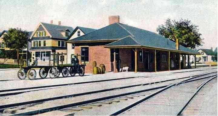 Warren, Rhode Island, USA - Train Station