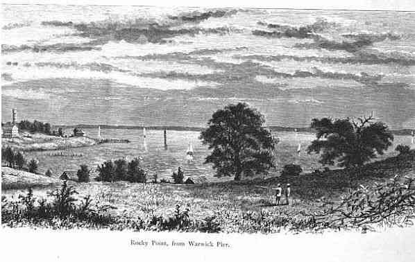 Warwick, Kent, Rhode Island, USA - Rocky Point, from Warwick Pier