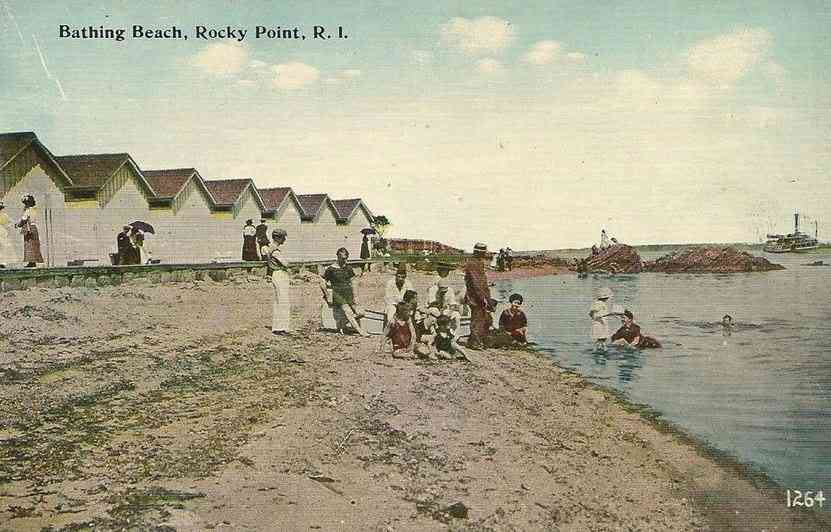Warwick, Kent, Rhode Island, USA - Bathing Beach, Rocky Point, R.I.