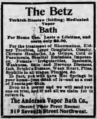 Washington, DC, USA - 1896 advertisement
