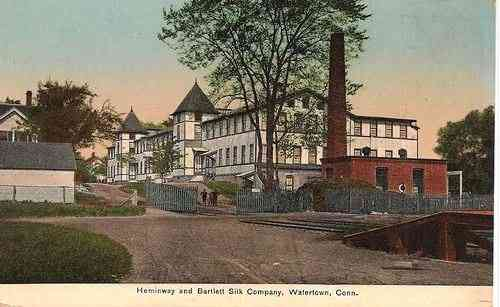 Watertown, Litchfield, Connecticut, USA - THE HEMINWAY AND BARTLETT SILK COMPANY, WATERTOWN, CONN.