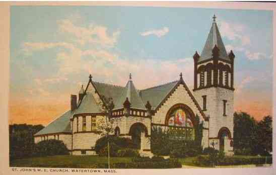 Watertown, Massachusetts, USA - St. John's M. E. Church, Watertown, Mass.