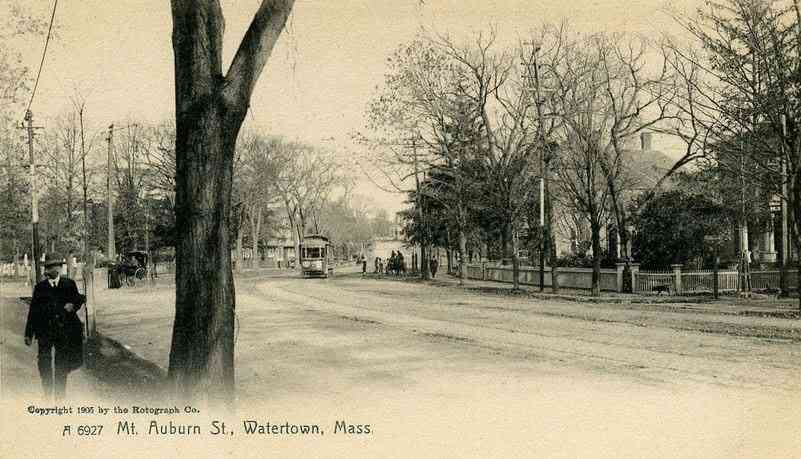 Watertown, Massachusetts, USA - Mt. Auburn St. (1905)