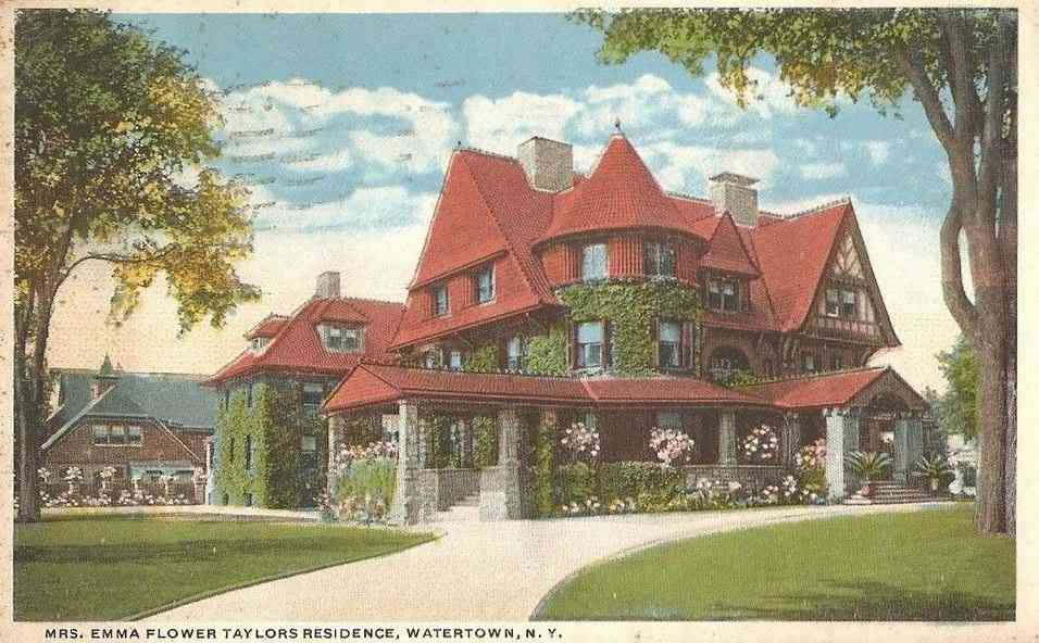 Watertown, New York, USA - Mrs. Emma Flower Taylors Residence, Watertown, N.Y.