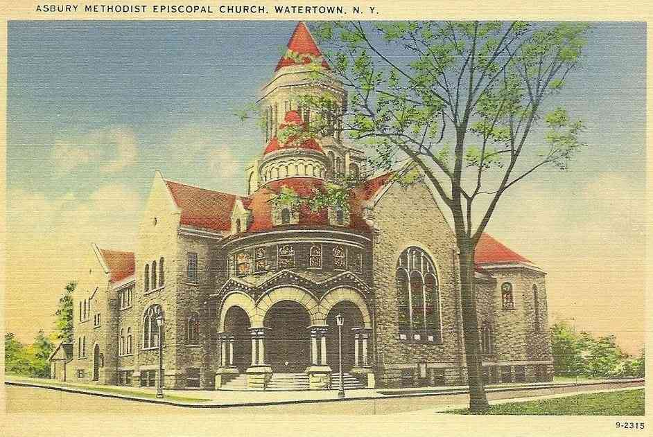 Watertown, New York, USA - Asbury Methodist Episcopal Church, Watertown, N.Y.