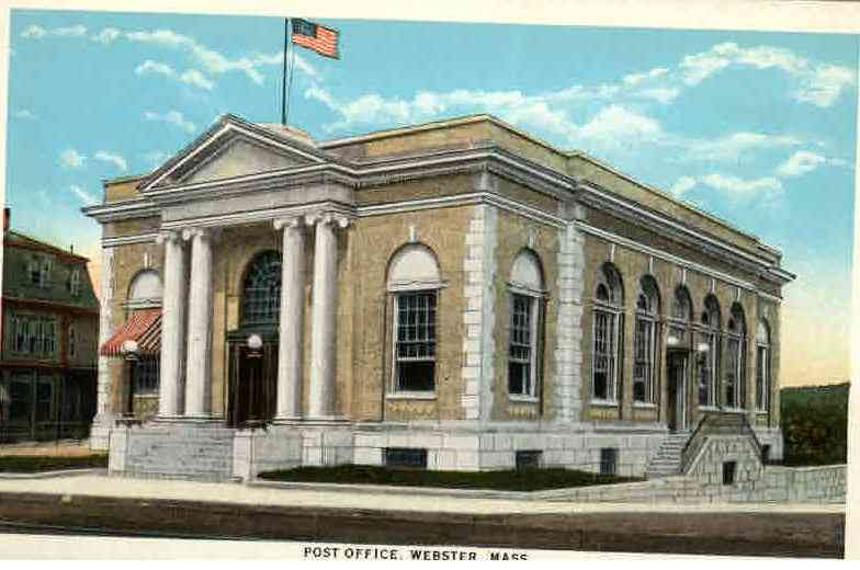 Webster, Massachusetts, USA - Post Office. Webster, Mass.