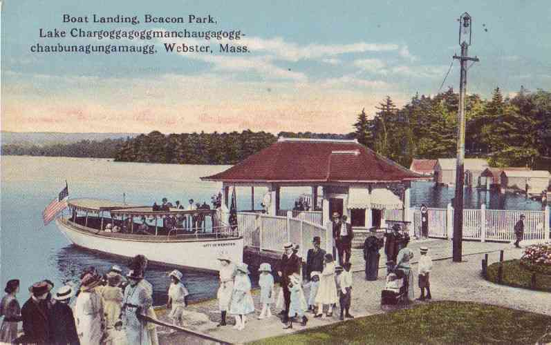 Webster, Massachusetts, USA - Boat Landing, Beacon Park, Webster, Mass.