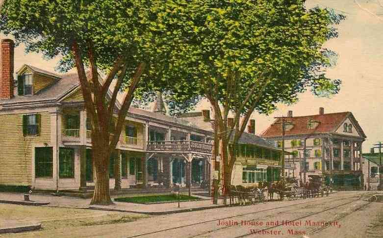 Webster, Massachusetts, USA - Joslin House and Hotel Maanexit, Webster, Mass.