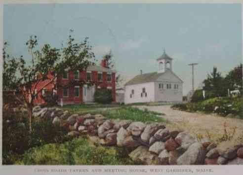 West Gardiner, Maine, USA - Cross Roads Tavern and Meeting House