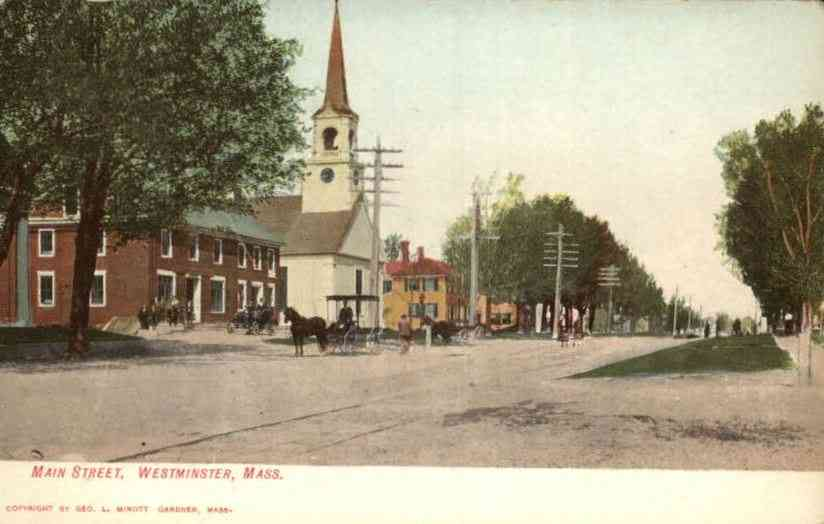 Westminster, Massachusetts, USA - Main Street (1910)