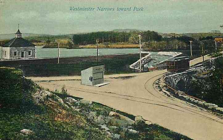 Westminster, Massachusetts, USA - Westminster Narrows toward Park