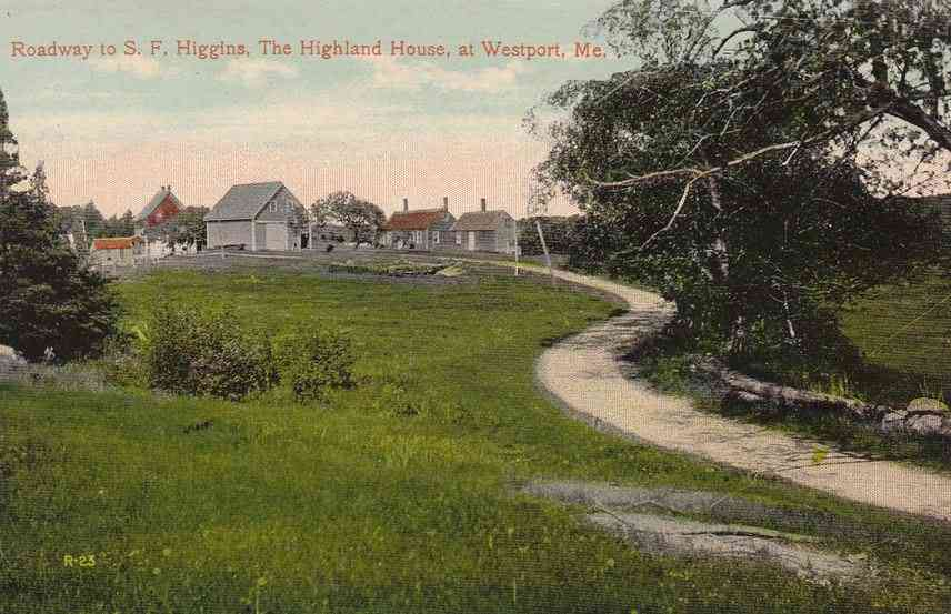 Westport Island, Maine, USA  - Roadway to S. F. Higgins, The Highland House, at Westport, Me.