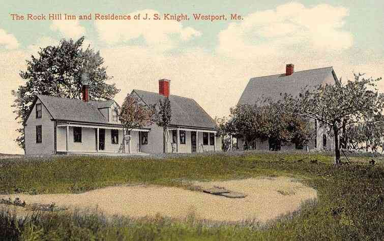 Westport Island, Maine, USA  - The Rock Hill Inn and Residence of J. S. Knight, Westport, Me.