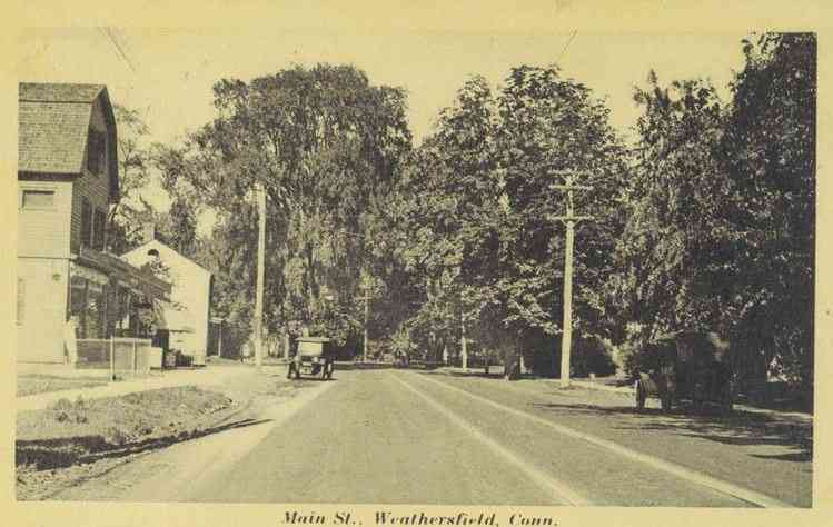 Wethersfield, Connecticut, USA - Main Street (1926)