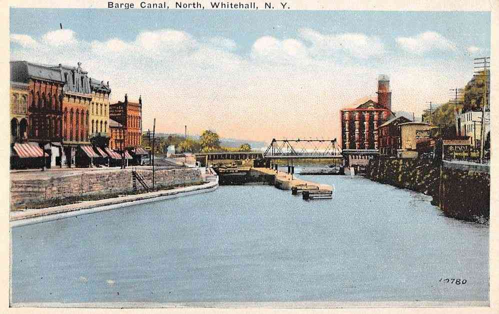 Whitehall, New York, USA - Barge Canal, North, Whitehall, N.Y.
