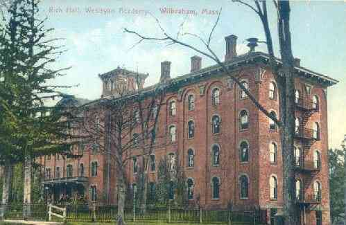 Wilbraham,  Massachusetts, USA - Rich Hall, Wesleyan Academy, Wilbraham, Mass.