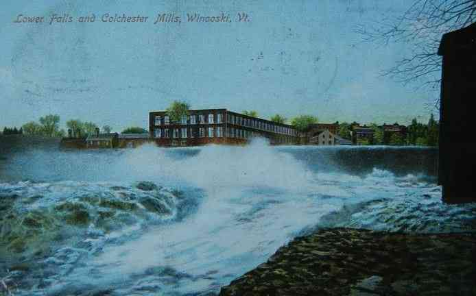 Winooski, Vermont, USA - Lower Falls and Colchester Mills, Winooski, Vt. (1908)